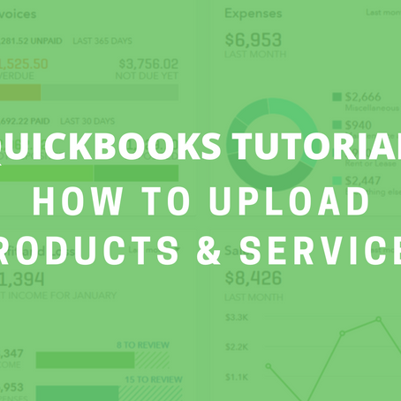 QBO Tutorial: How to Upload Products & Services