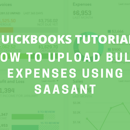 QBO Tutorial: How to Upload Bulk Expenses Using SaaSAnt