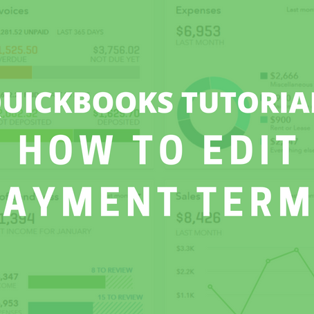 QBO Tutorial: How to Edit Payment Terms