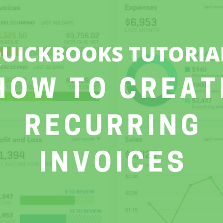 How To Create Recurring Invoices in Quickbooks Online