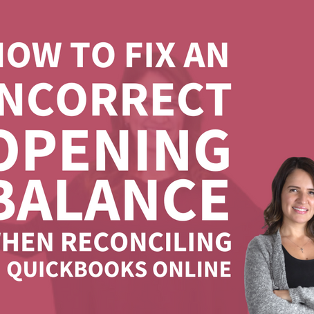 How to Fix an Opening Balance in Quickbooks Online
