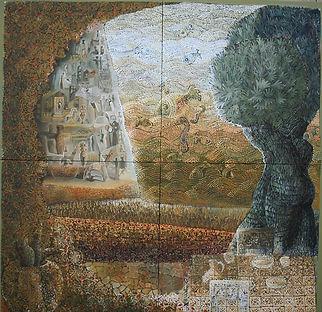 2x2 sea mosaics oil on canvas  euro euro