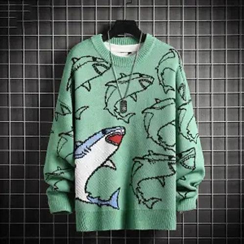 Knitted Shark Sweater
