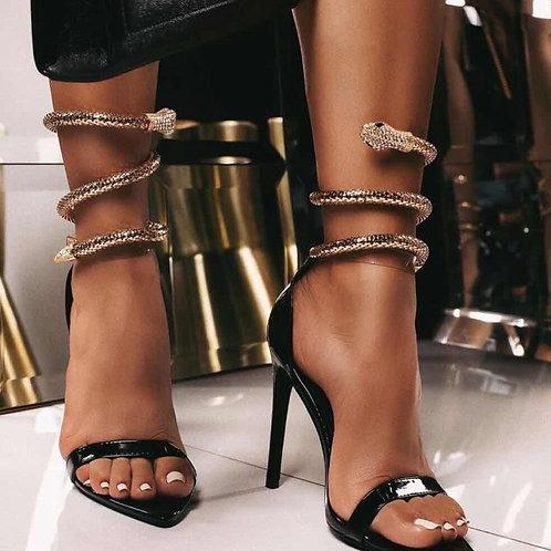 Golden Serpent Stilettos