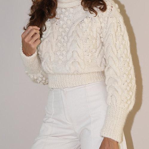Premium Cropped Wool Sweater