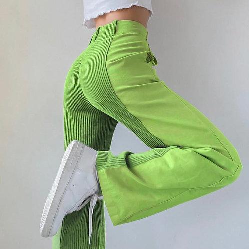 Patchwork Corduroy Pants