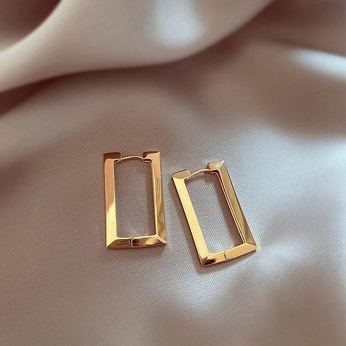 Rectangular Earnings (Gold/Silver)