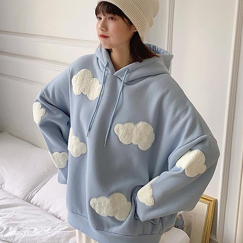 Comic Cloud Fleece Sweater