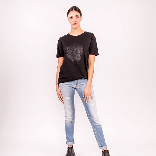 Black Leopard T-Shirt (Female)  Regular price
