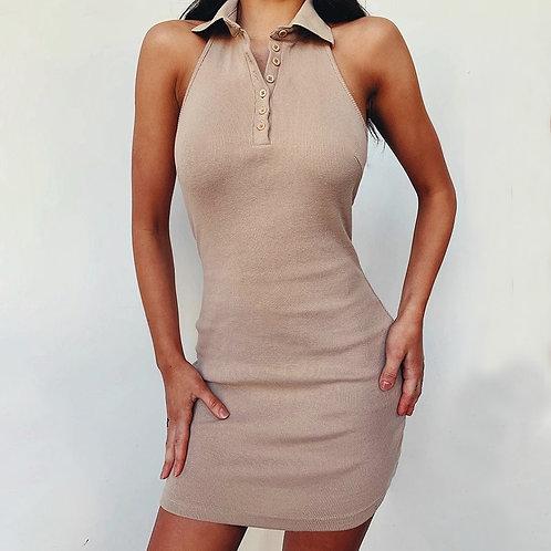 Plain Collared Summer Dress