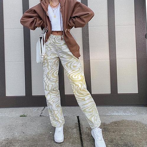 Zebra Swirl Pants