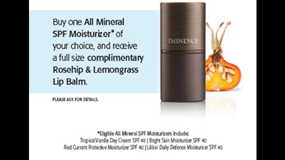 Eminence Organics Rosehip & Lemongrass Lip Balm SPF 15