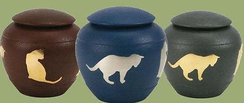 Silhouette Cat - Urn