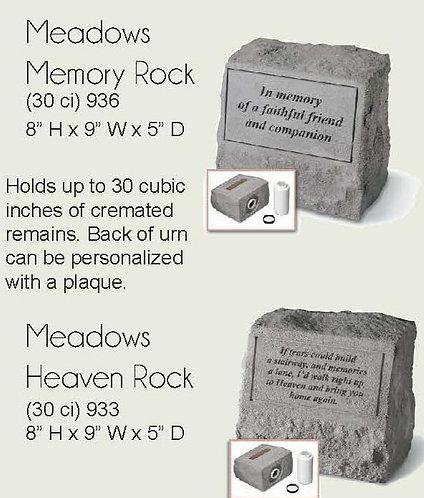 Meadows Rock - Urn