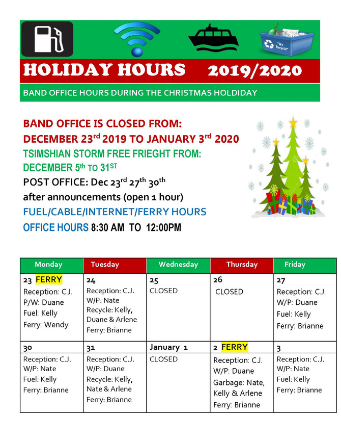 Lach Klan Band Office Holiday Hours