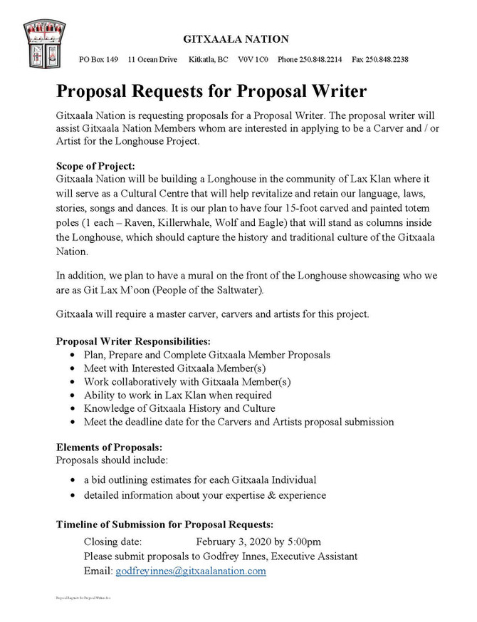 Proposal Request for Proposal Writer