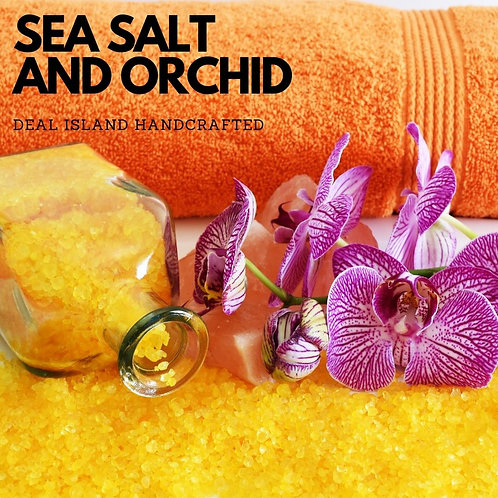 Sea Salt and Orchid - Deal Island Handcrafted Scented Candle - 4 oz., Single