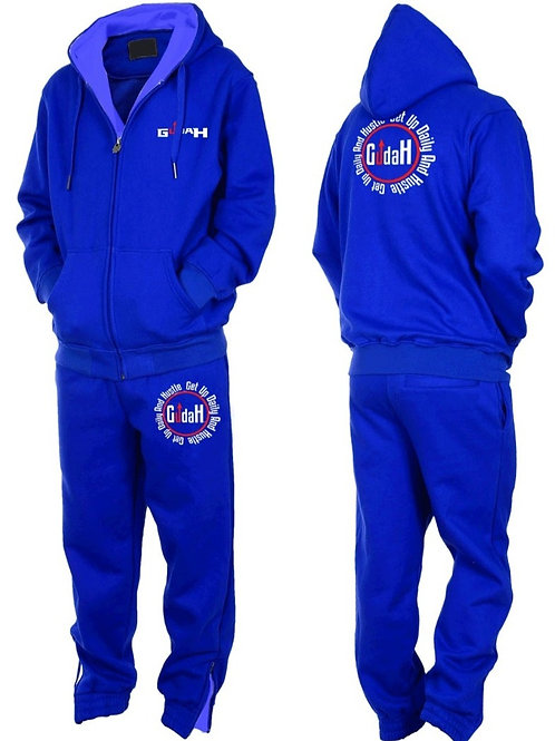 (GUDAH) Benjamin Blue hooded sweatsuit