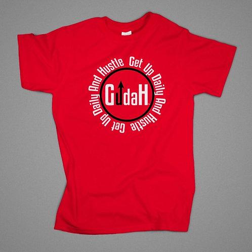 GUDAH~Ruby Red Circle logo T-shirt