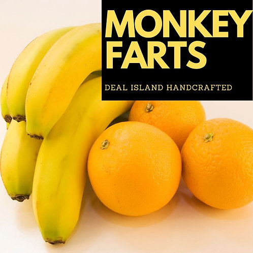 MonkeyFarts - Deal Island Handcrafted Scented Candle  - 4oz., Single