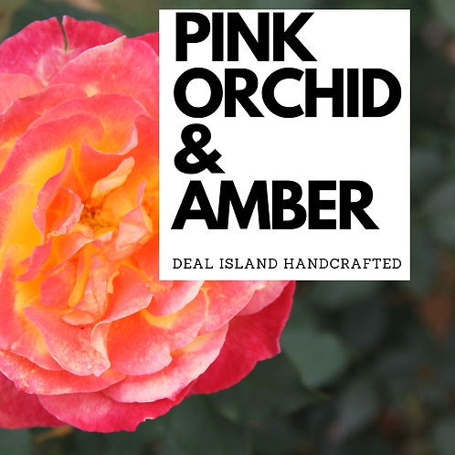 Pink Orchid and Amber - Deal Island Hand Crafted Scented Candle - 4 oz., Single