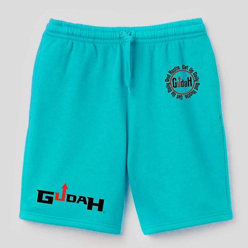GUDAH~ Light Emerald Green Terry Fleece shorts