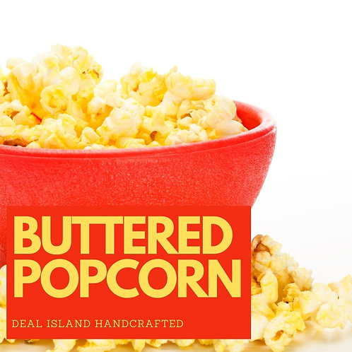 Buttered Popcorn - Deal Island Handcrafted Scented Candle - 8oz., Single