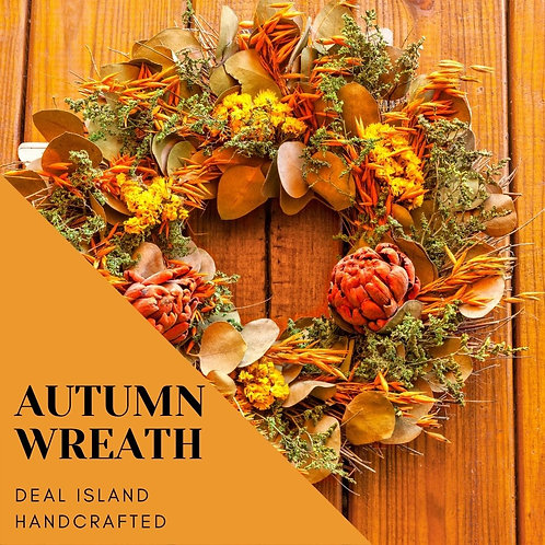 Autumn Wreath - Deal Island Handcrafted Scented Candle -  8oz., Single