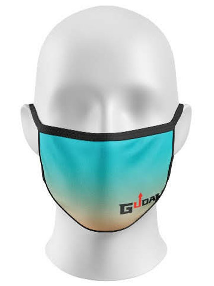 GUDAH~ Blue Ombre Mask