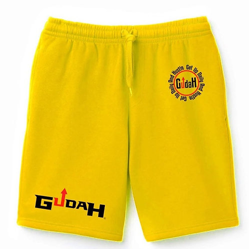 copy of GUDAH~ Yellow Diamond Shorts