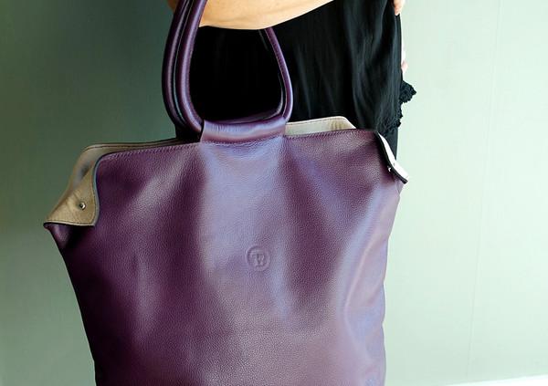Le grand Tandem cuir torino violet