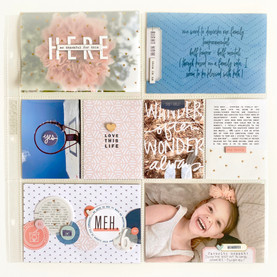 Sassy Scrappers Project Life Layout #1