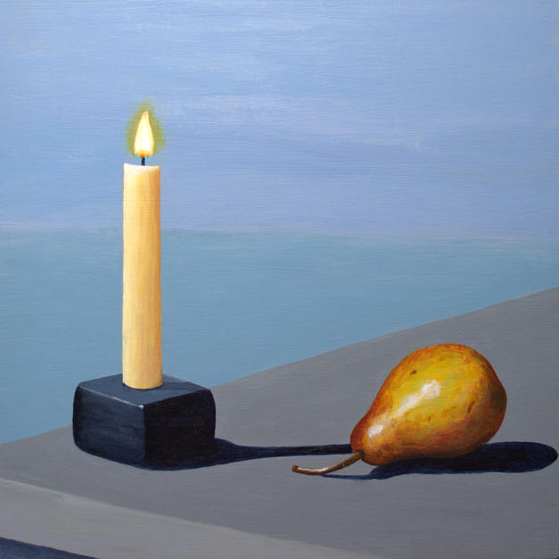 Candle and Pear