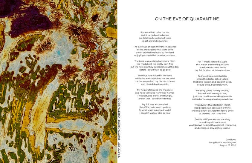 """On the Eve of Quarantine"" by Jan Bono"