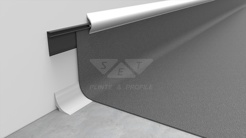 Skirting boards for PVC carpet