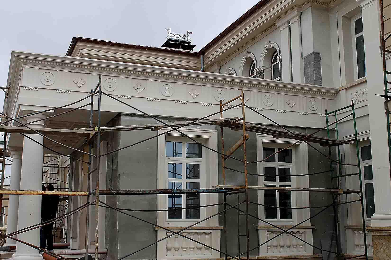 Усадьба в поселке Холмс, реконструкция и проект облицовки фасадов_13