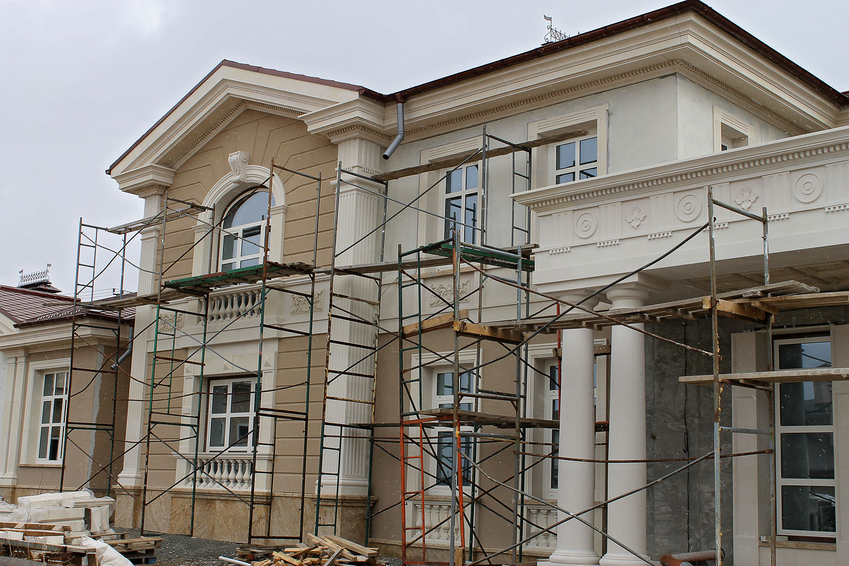 Усадьба в поселке Холмс, реконструкция и проект облицовки фасадов_08