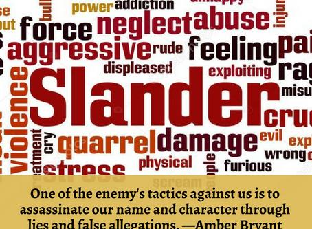Oh You Slandered My Name???