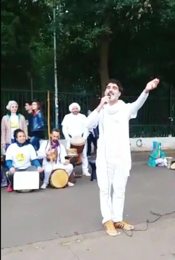 Poeta Cícero Nepomuceno recitando