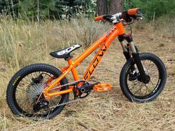 flow bike orange black 16