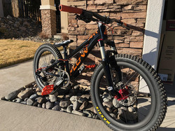 flow kids bike black orange 20