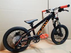 flow bike black orange 16