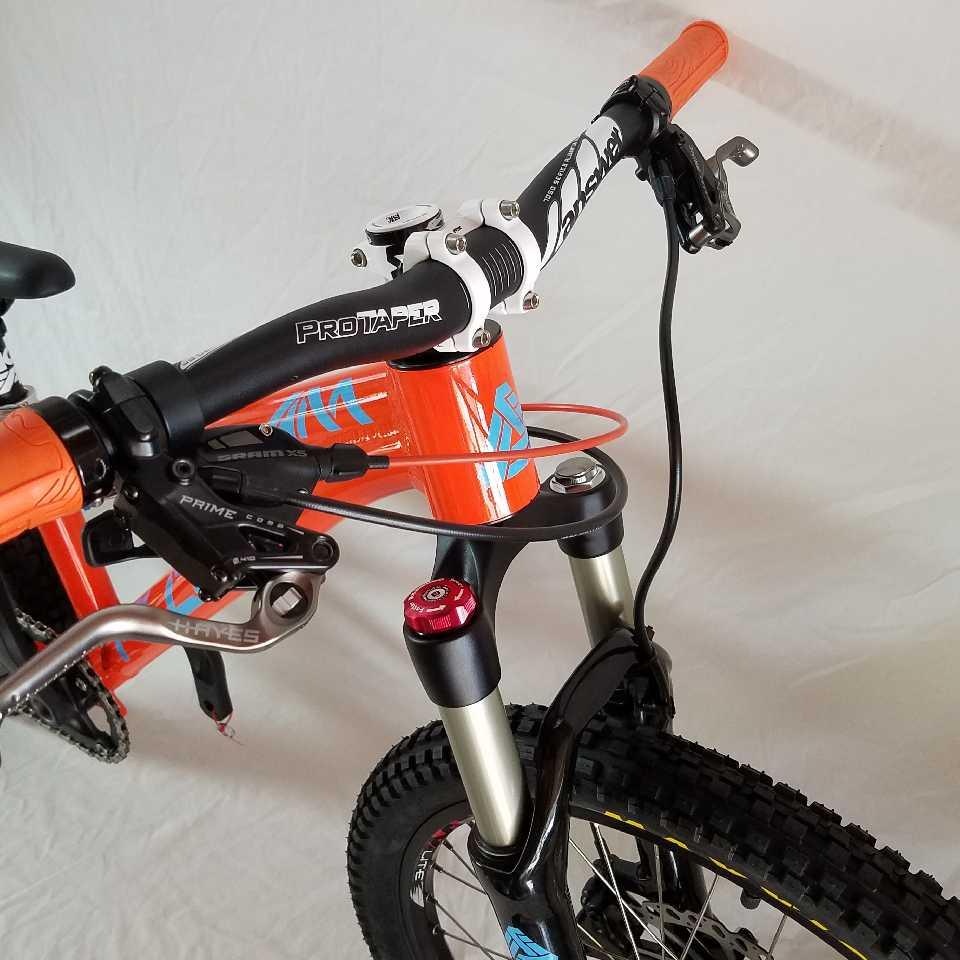 kids mountain bike headset orange bike