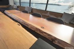 Custom conference table, raw edge