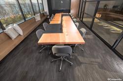 Custom conference table & raw edge