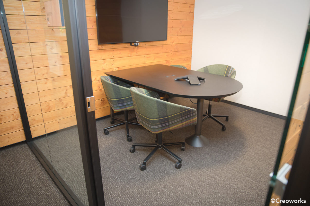 Custom attached conference table