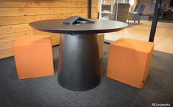 Custom wood round table
