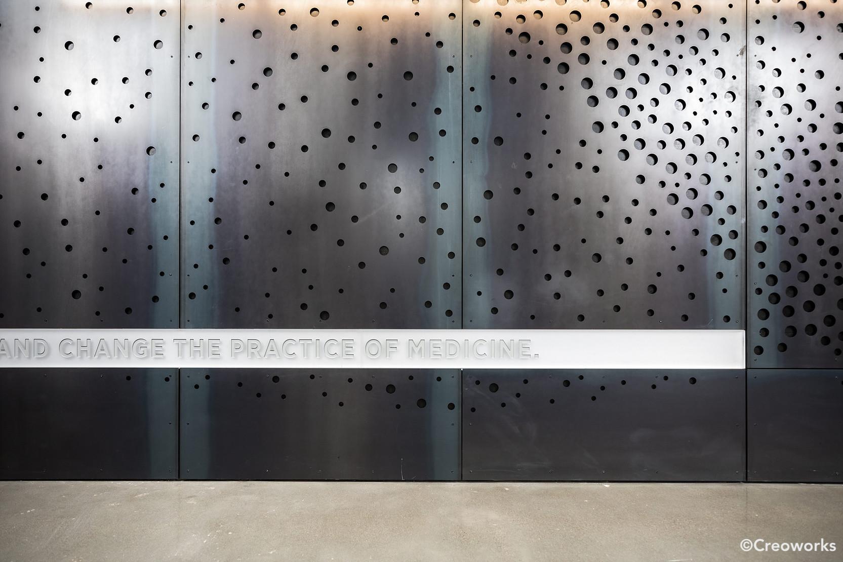 Custom branded steel wall