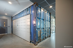 Shipping container room & wall