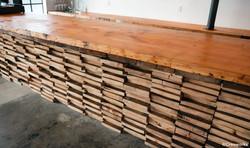 Stacked en-grain wood bar